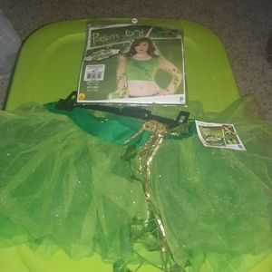 Poison Ivy Crop Top and Tutu Skirt